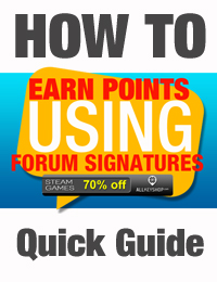 How to Earn Points Using Forum Signatures