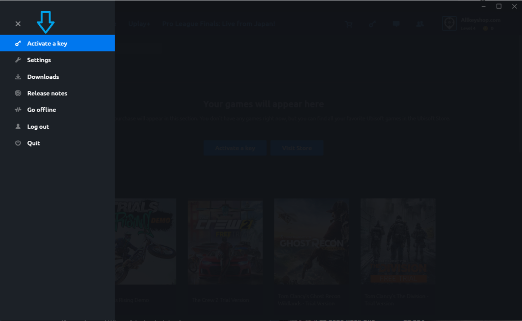 Uplay Activate a Key