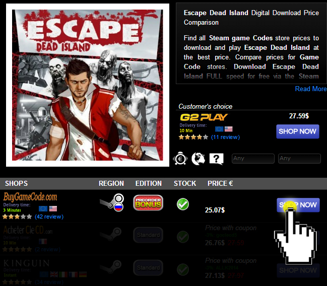 Escape Dead Island Digital Download Price Comparison