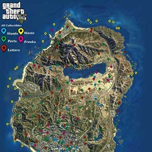 GTA 5 PS4 - Map Collectibles