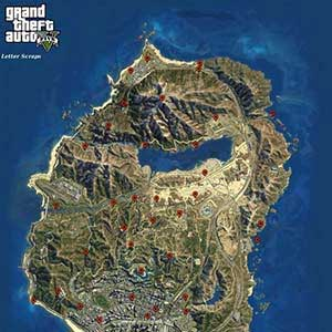 GTA 5 PS4 - Map Letter Scraps