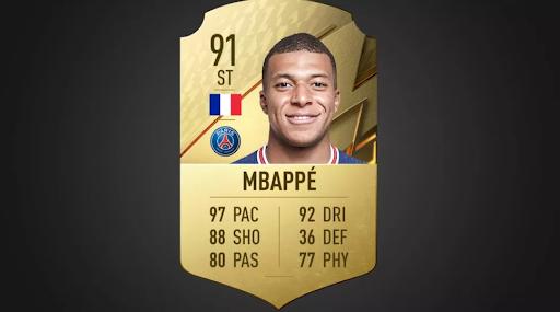 Mbappe FIFA 22 rating