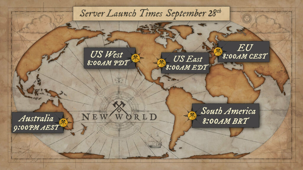 New World Launch Times