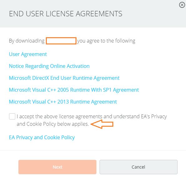 Origin End User License Agreements