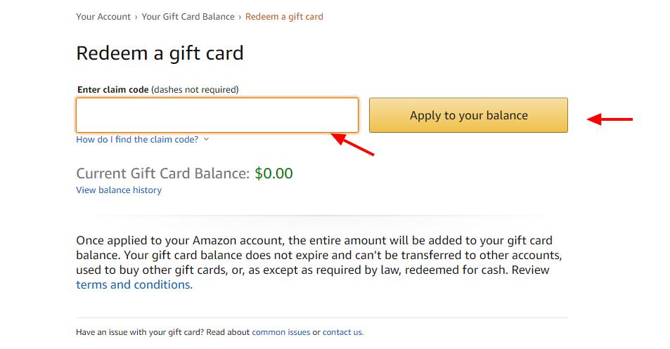 Amazon Apply Balance