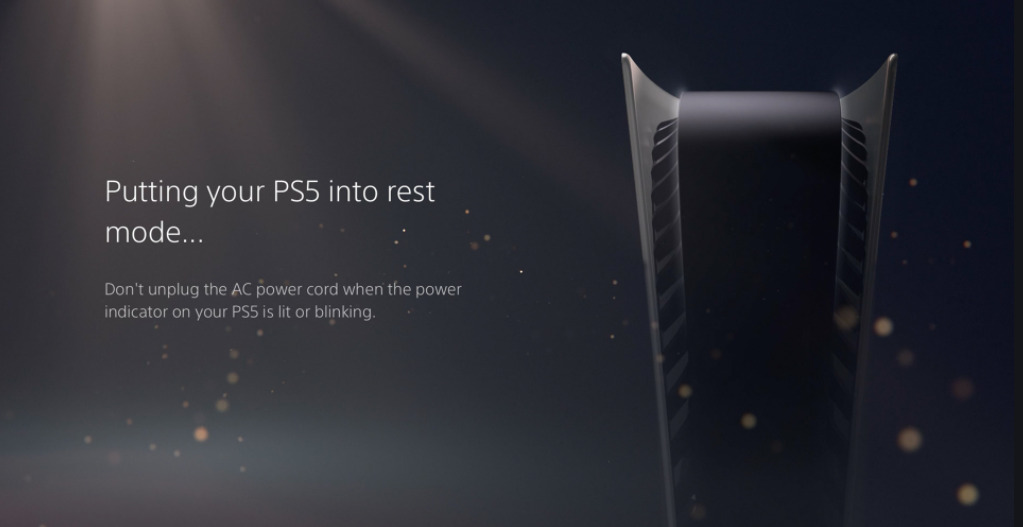 PS5 Rest Mode