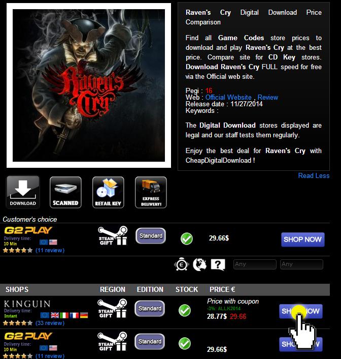 Raven s Cry Digital Download Price Comparison