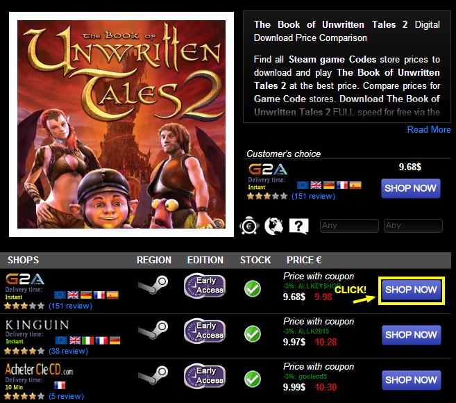 The Book of Unwritten Tales 2 Digital Download Price Comparison
