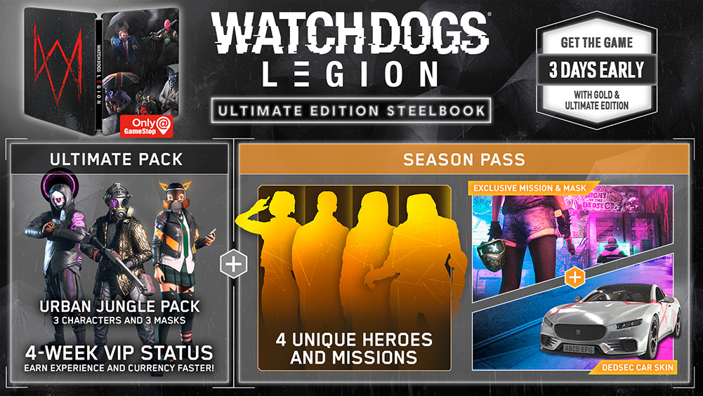 Watch Dogs Legion Ultimate Steelbook Edition GameStop
