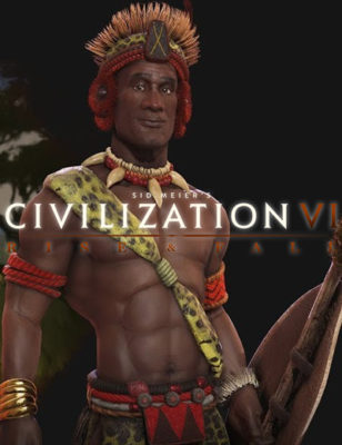 New Civilization 6 Rise and Fall Leader Shaka Leads The Zulus