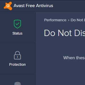 Avast Internet Security Global License - Do Not Disturb Mode