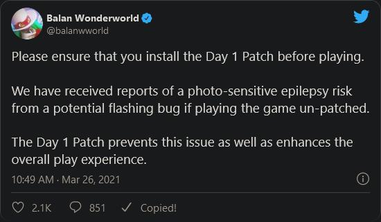 Balan Wonderworld Tweet