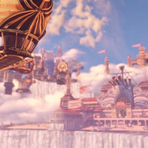 An Airship in Bioshock Infinite