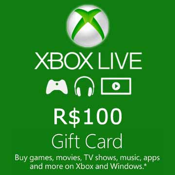 100 BRL Gift Card Xbox Live Code Price Comparison