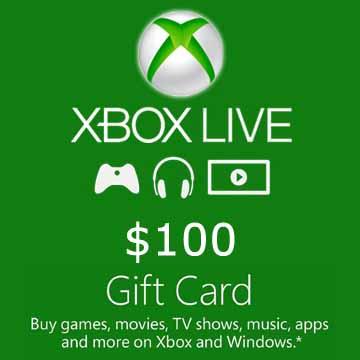 100 USD Gift Card Xbox Live Code Price Comparison