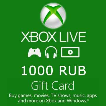1000 RUB Gift Card Xbox Live Code Price Comparison