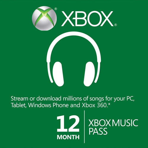 12 Month Xbox Music Pass Xbox one Code Price Comparison