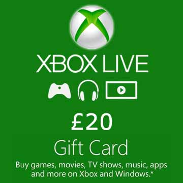 20 GPB Gift Card Xbox Live Code Price Comparison