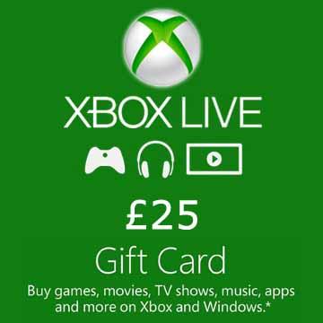 25 GPB Gift Card Xbox Live Code Price Comparison