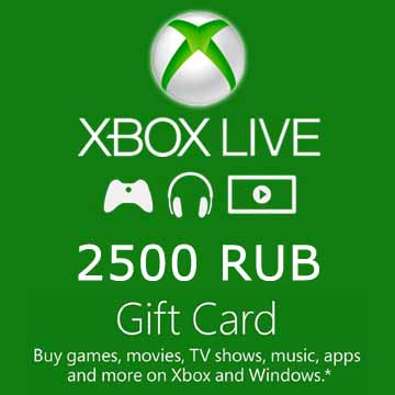 2500 RUB Gift Card Xbox Live Code Price Comparison