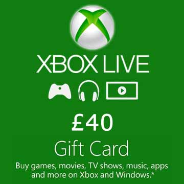 40 GPB Gift Card Xbox Live Code Price Comparison