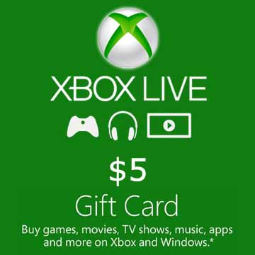 5 USD Gift Card Xbox Live Code Price Comparison