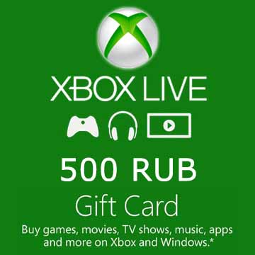 500 RUB Gift Card Xbox Live Code Price Comparison