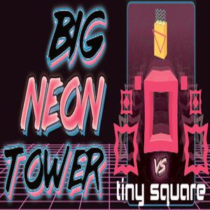 Big NEON Tower VS Tiny Square
