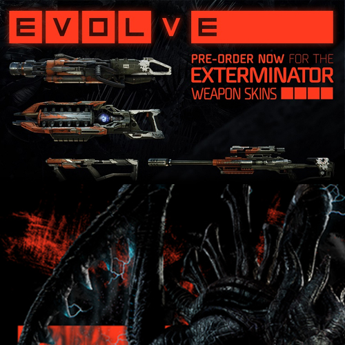 Evolve Exterminator Weapon Skins Pack Ps4 Code Price Comparison