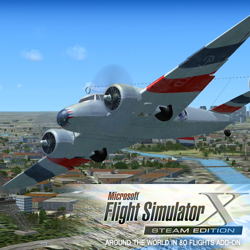 FSX Steam Edition Around The World In 80 Flights Add-On Digital Download Price Comparison