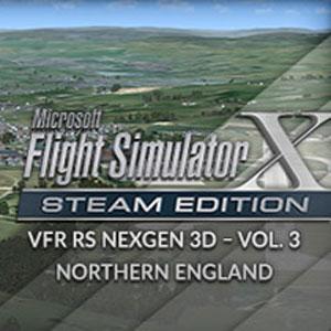FSX Steam Edition VFR Real Scenery NexGen 3D Vol. 3 Northern England Add-On