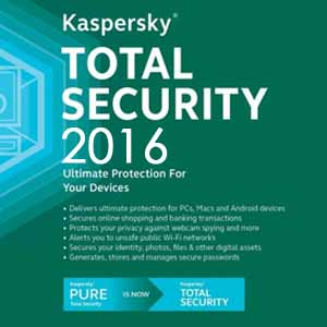 Kaspersky Total Security 2016 Digital Download Price Comparison
