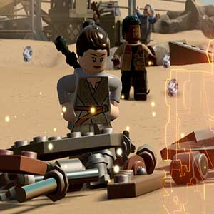 LEGO Star Wars The Force Awakens PS4 - Solving Puzzles