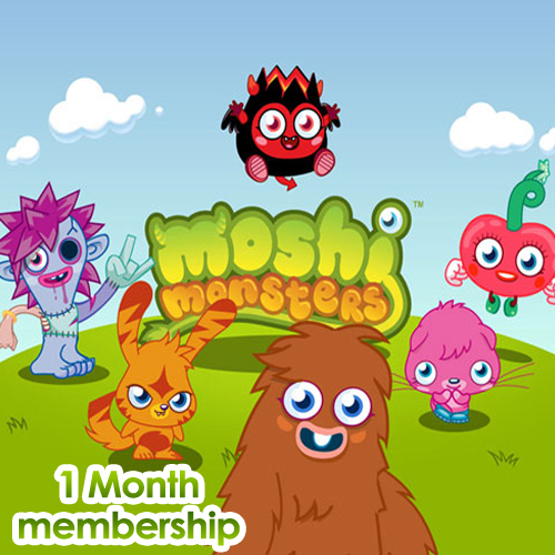 Moshi Monsters 1 Month Memberships Gamecard Code Price Comparison