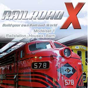 Railroad X Modelset 1 Railstation, Houses, Barn Digital Download Price Comparison