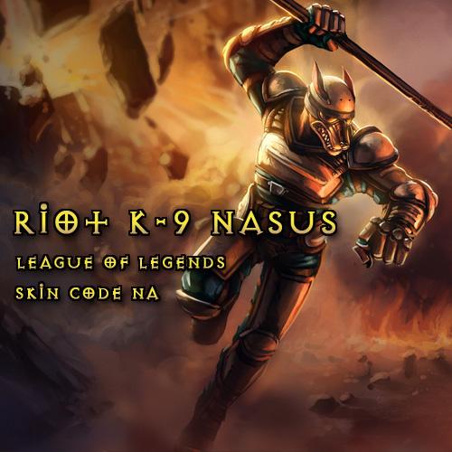 Riot K-9 Nasus League Of Legends Skin NA Gamecard Code Price Comparison