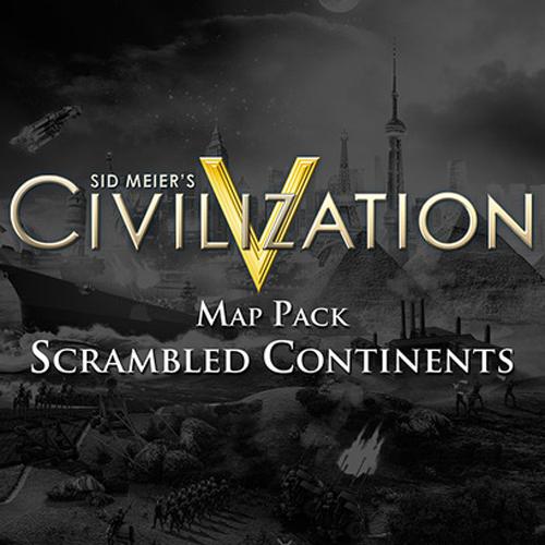 Sid Meier's Civilization 5 Scrambled Continents Map