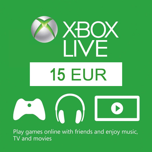 Xbox Live 15 Euros Gift Card Code Price Comparison