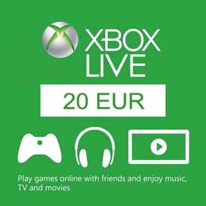 Xbox Live 20 Euros Gift Card