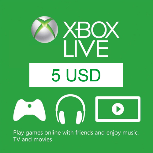 5 USD Card Xbox Live Code Price Comparison