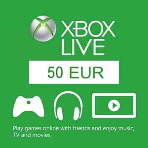 Xbox Live 50 Euros Gift Card Code Price Comparison