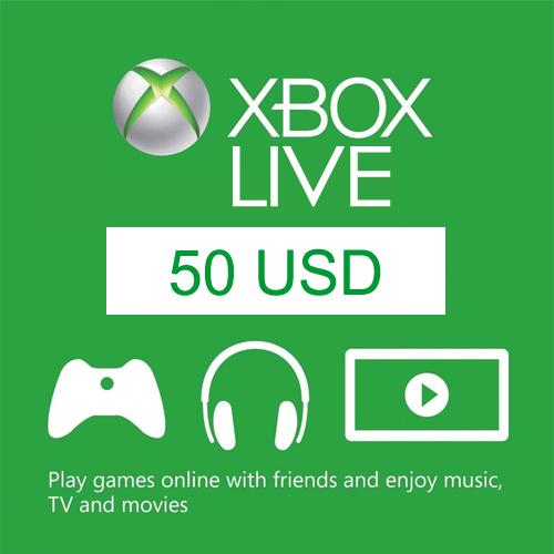 50 USD Card Xbox Live Code Price Comparison