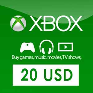 Purchase Xbox Live Gift Card 20 USD Code Price Comparisonn