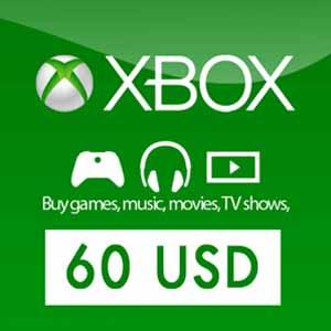 Purchase Xbox Live Gift Card 60 USD Code Price Comparison