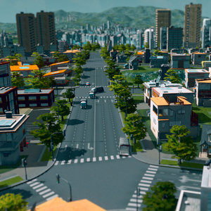 Cities Skylines - Roads at City Center