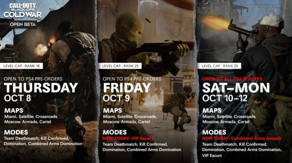 Call of Duty Black Ops Cold War Schedule