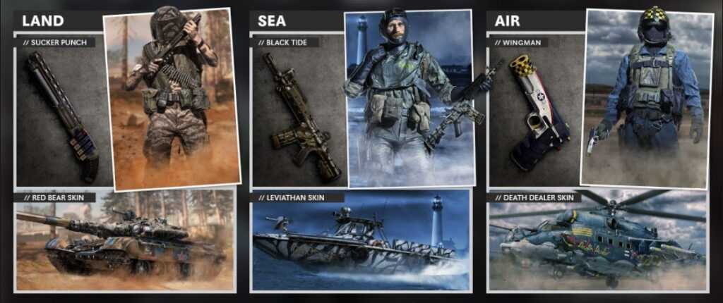 Call of Duty Black Ops Cold War Land, Sea, and Air