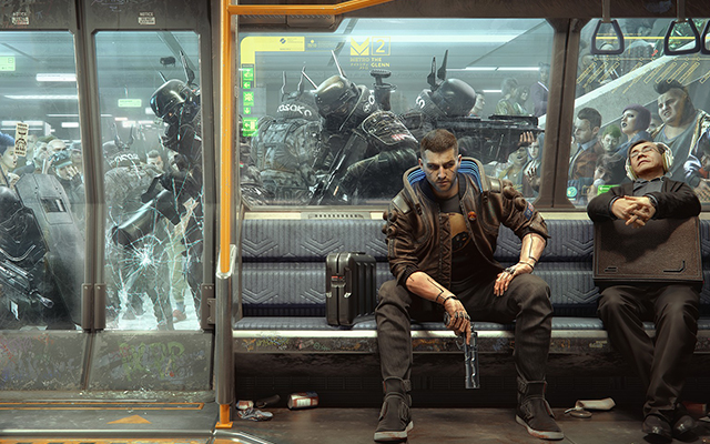 Cyberpunk 2077 subway