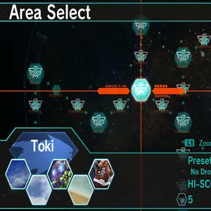 DARIUSBURST Chronicle Saviours - Area Selection