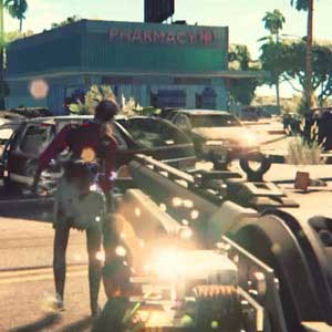 Dead Island 2 Shooting at zombies